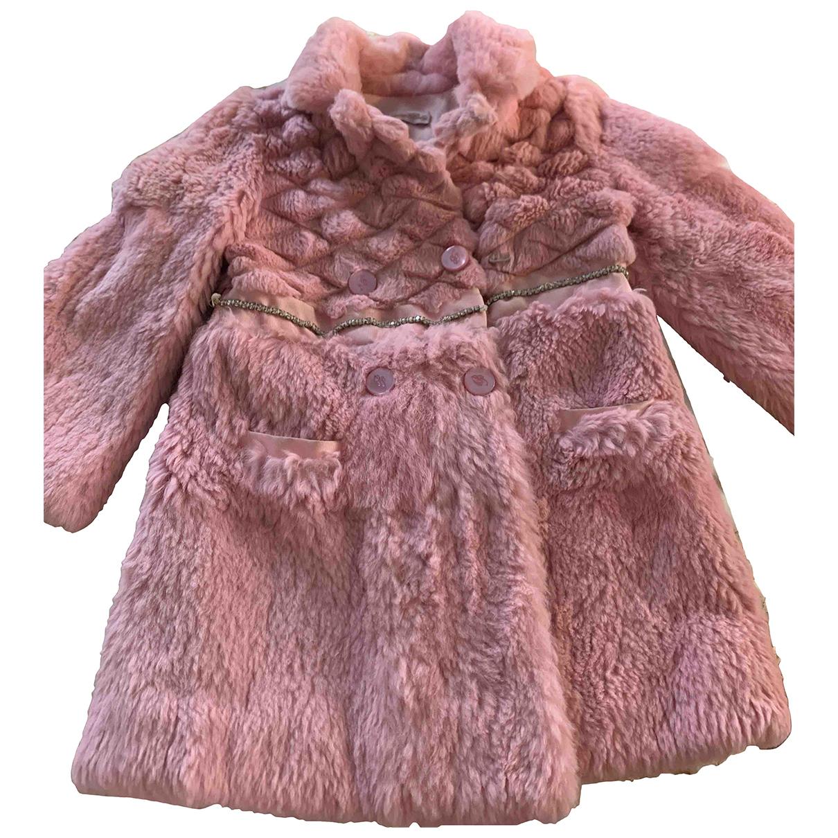 Blumarine - Blousons.Manteaux   pour enfant en lapin - rose