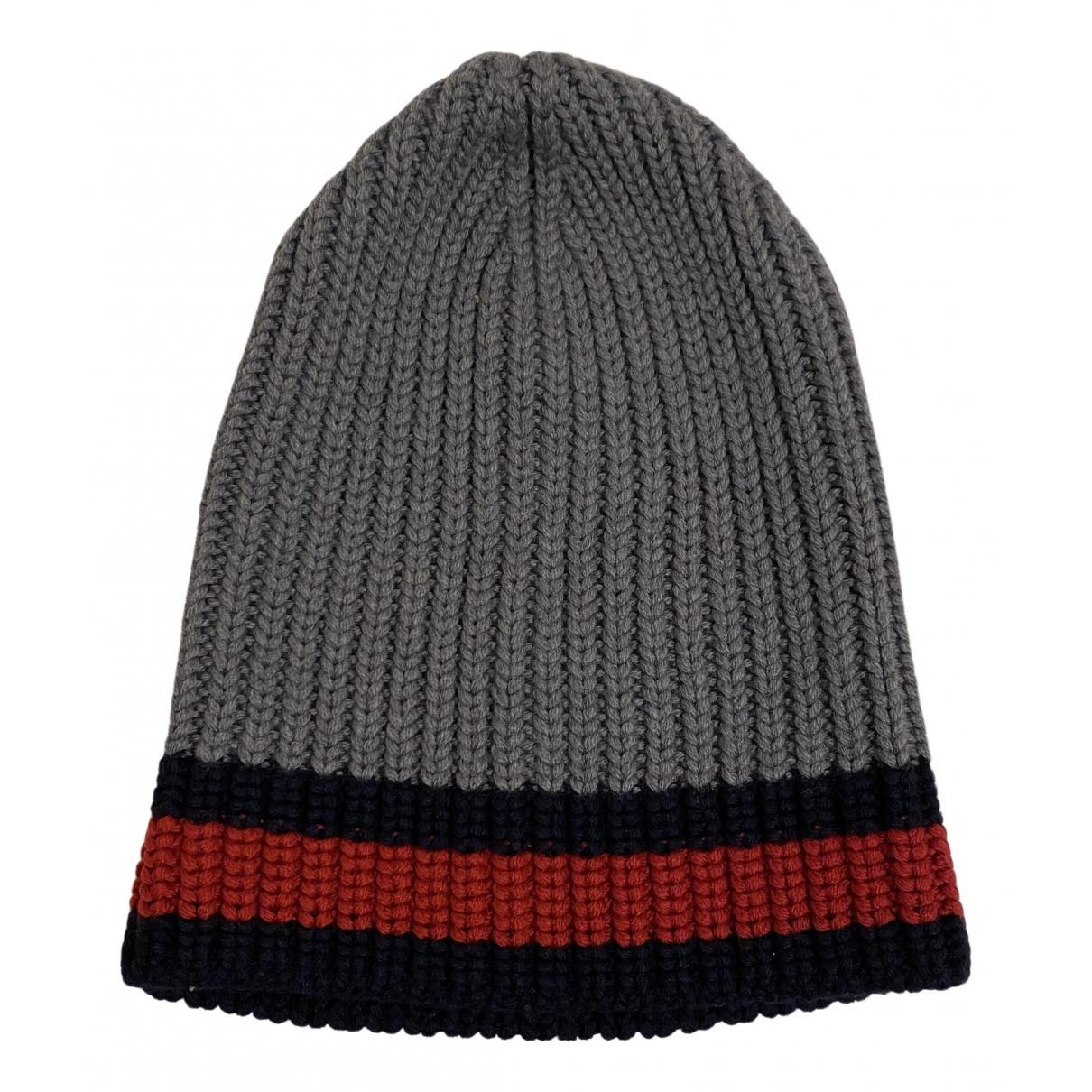 Gucci - Chapeau & Bonnets   pour homme en laine - gris