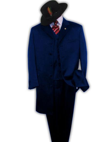 Mens Dark Navy Notch Lapel Suit
