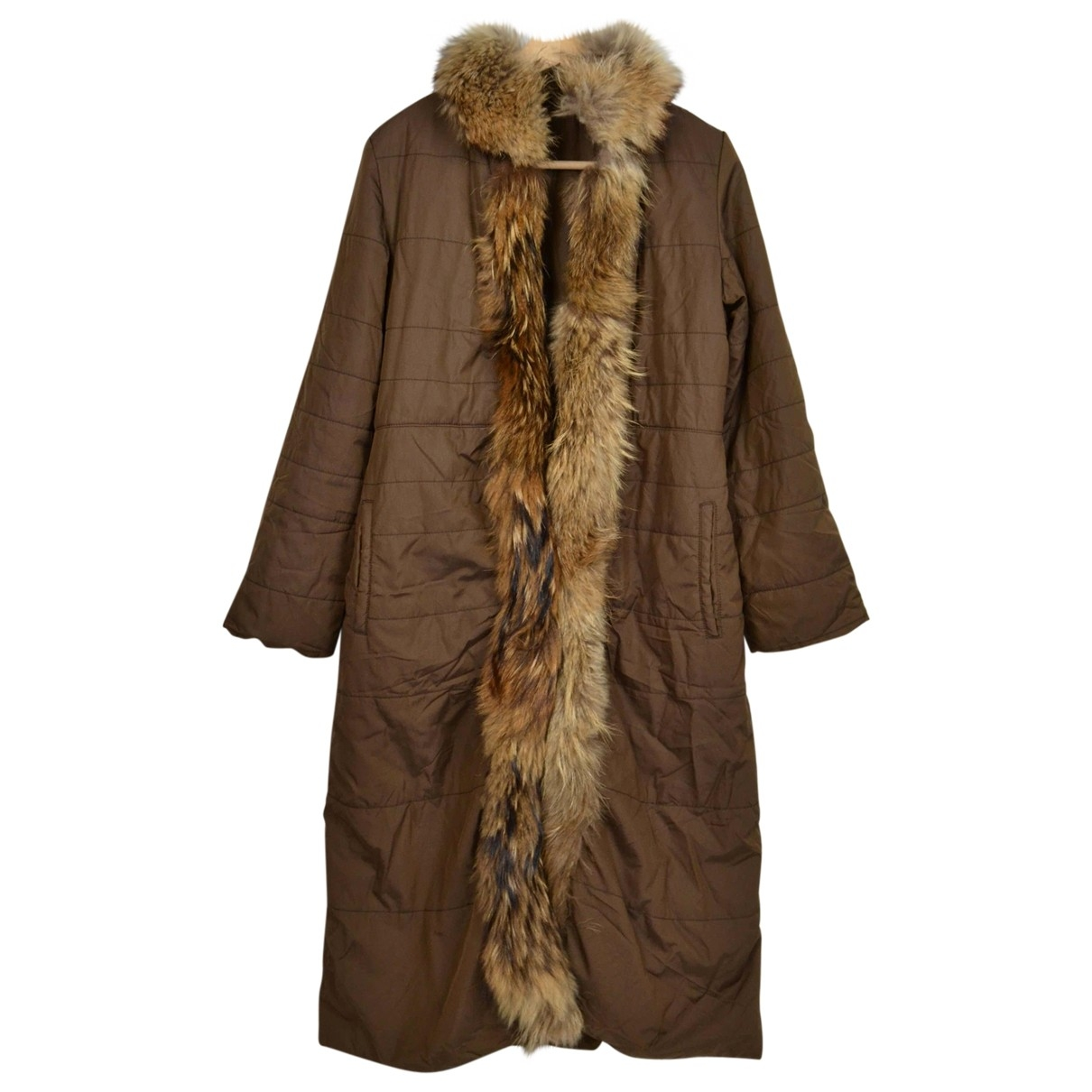 Non Signé / Unsigned \N Brown Trench coat for Women 46 IT