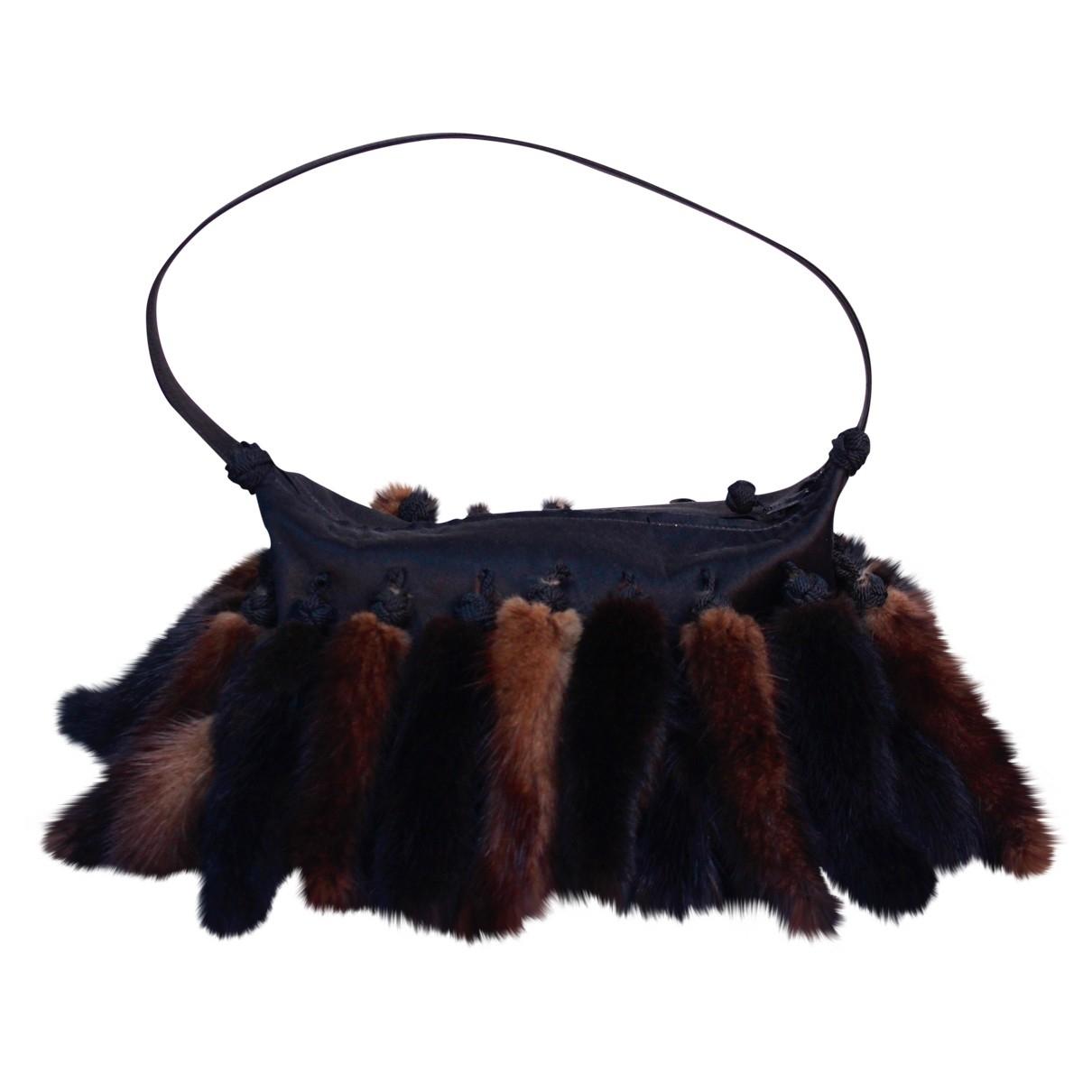 Non Signé / Unsigned Hippie Chic Black Silk handbag for Women \N