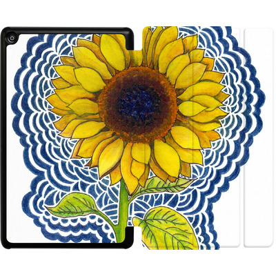 Amazon Fire HD 8 (2018) Tablet Smart Case - Sunflower Drawing von Kaitlyn Parker