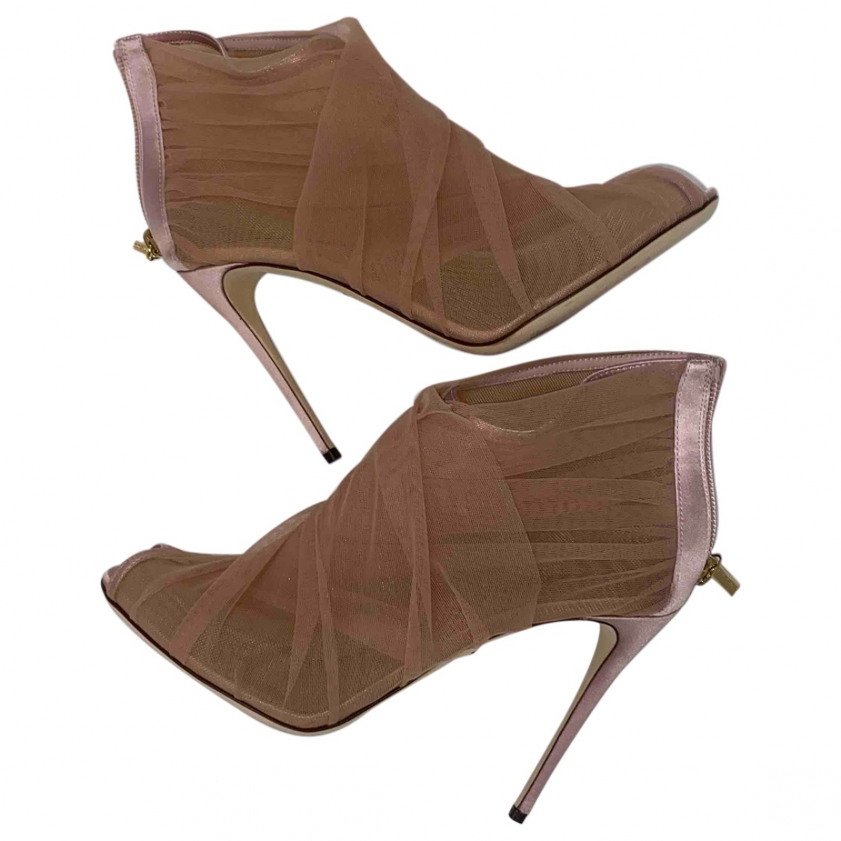 Dolce & Gabbana - Boots   pour femme en toile - rose