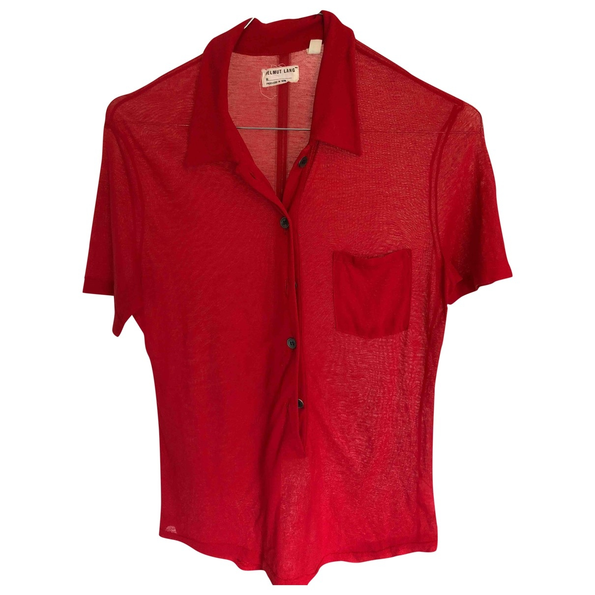 Helmut Lang N Red Cotton  top for Women XS International