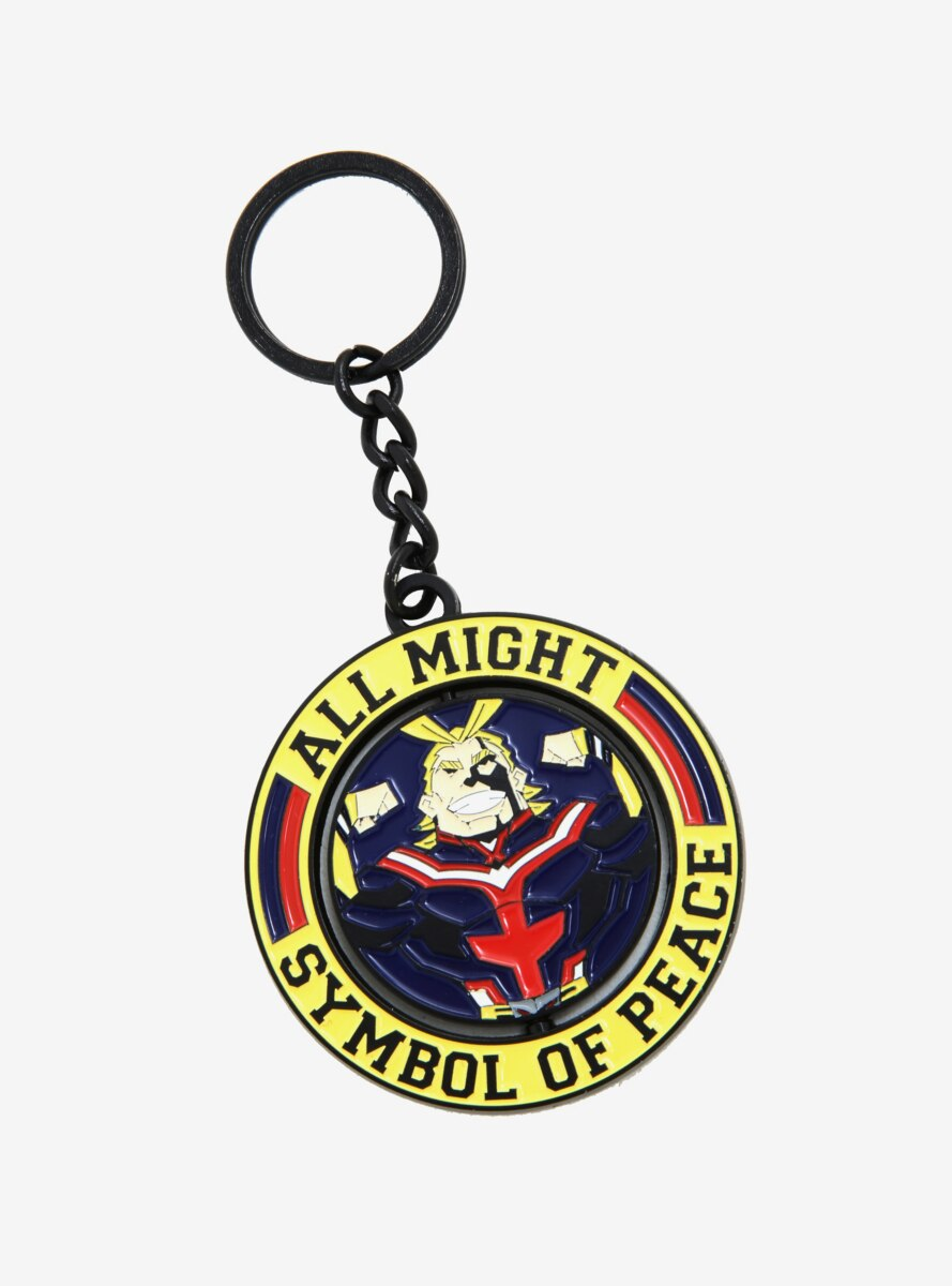 My Hero Academia All Might Symbol of Peace Spinning Enamel Keychain - BoxLunch Exclusive