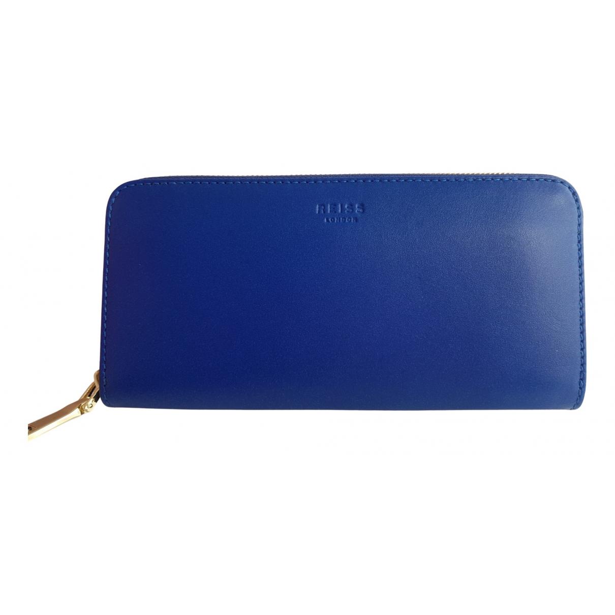 Reiss \N Portemonnaie in  Blau Leder