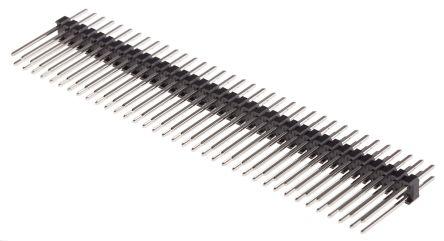 RS PRO , 72 Way, 2 Row, Straight Pin Header (10)