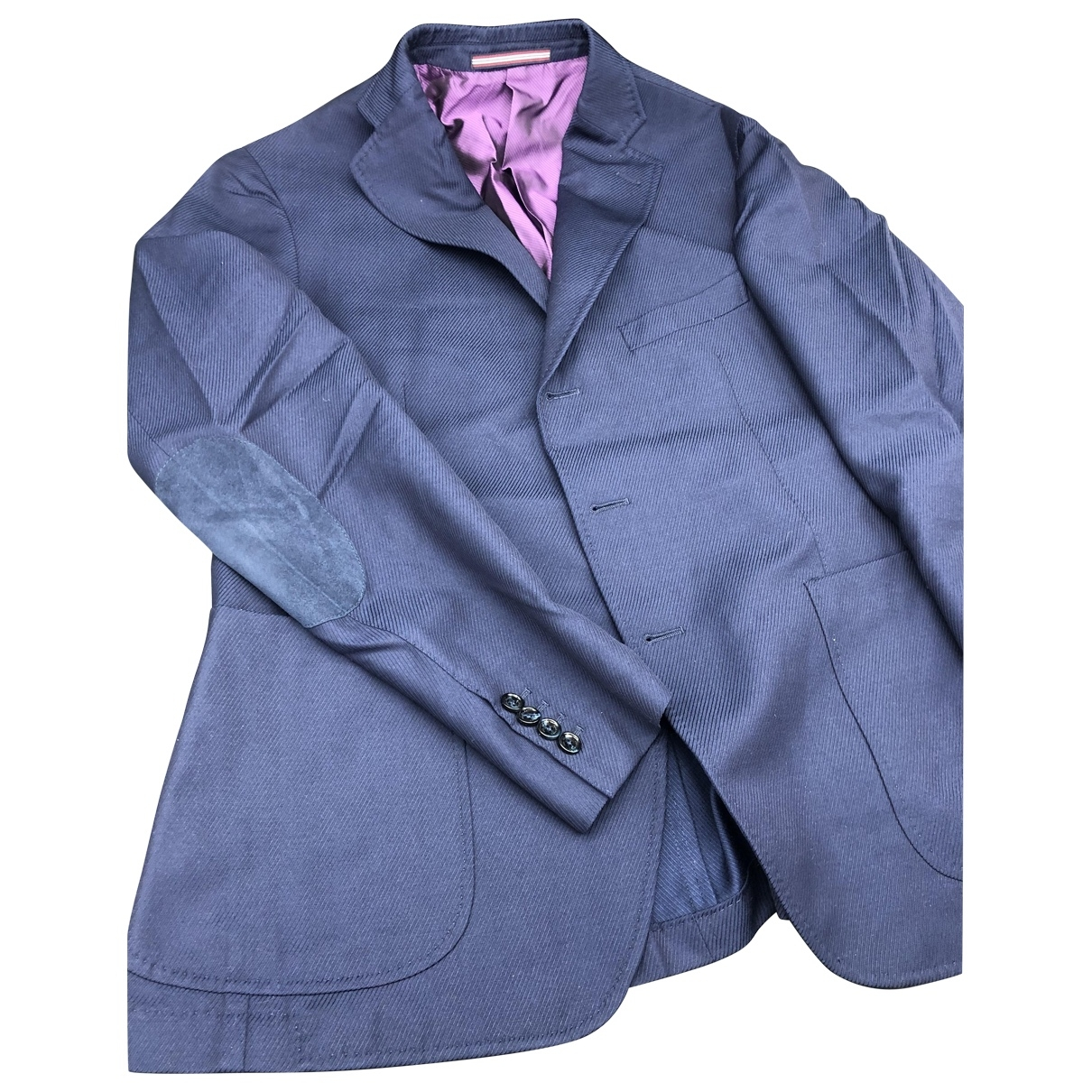 Pal Zileri - Vestes.Blousons   pour homme en coton - bleu