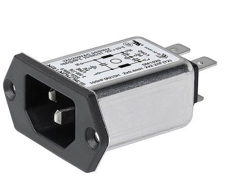 Schurter 5120 IEC Filter, 250VAC, 15A