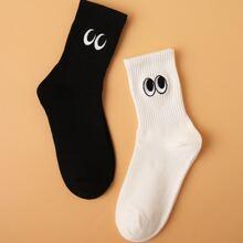 2 pares calcetines de hombres con bordado