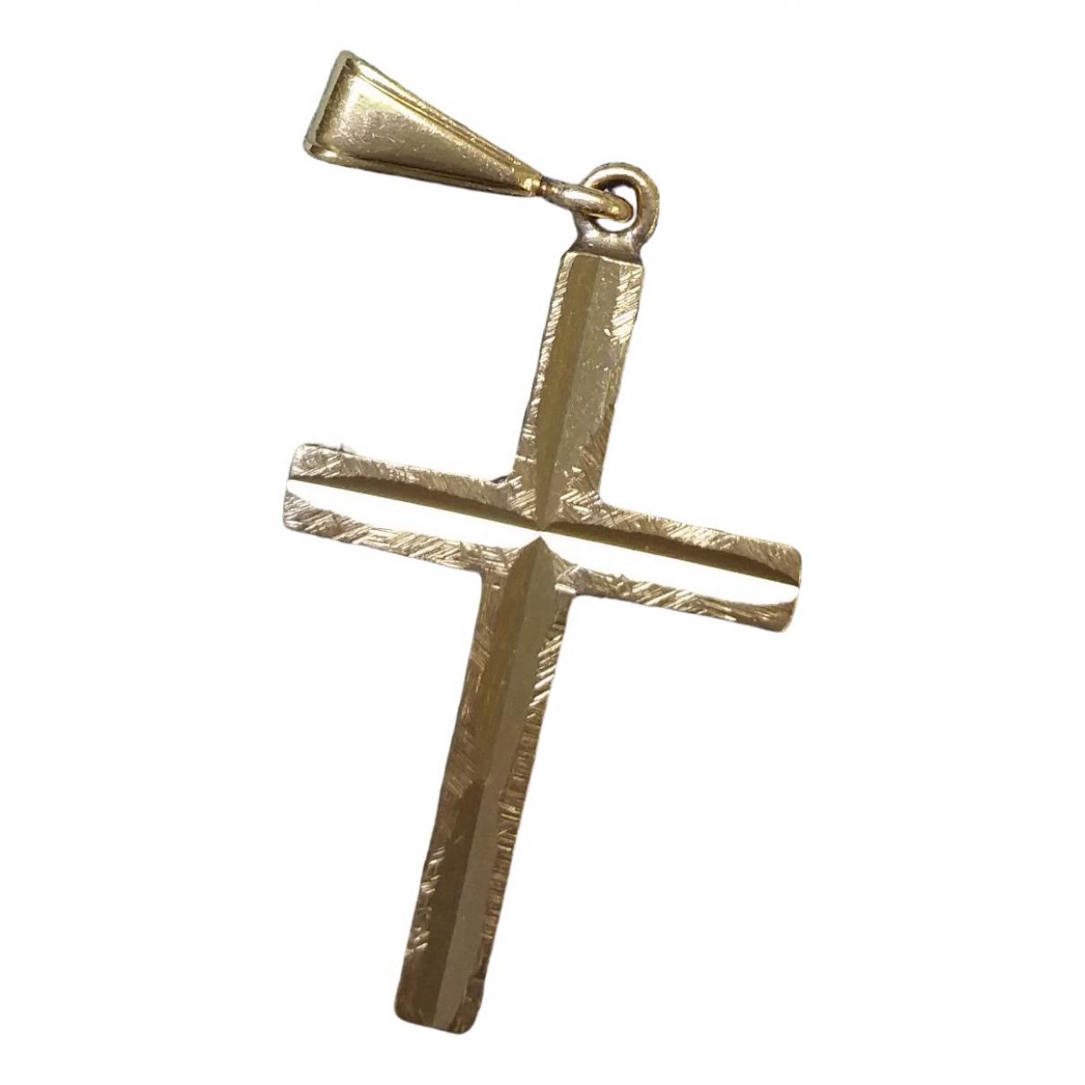 - Pendentif Croix pour femme en plaque or - dore