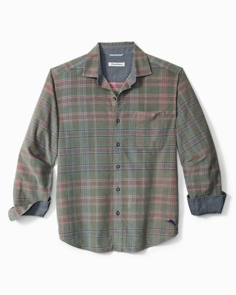 Big & Tall Coastline Corduroy Tropi-Cord Check Shirt
