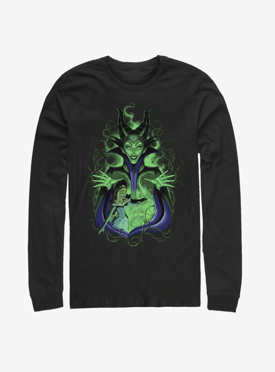 Disney Sleeping Beauty Maleficent Touch The Spindle Long-Sleeve T-Shirt