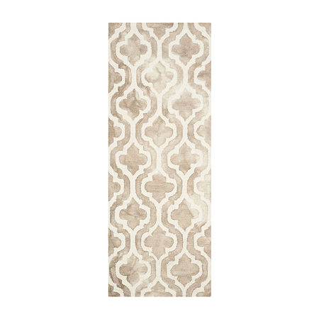 Safavieh Dip Dye Collection Elfrida Geometric Runner Rug, One Size , Multiple Colors