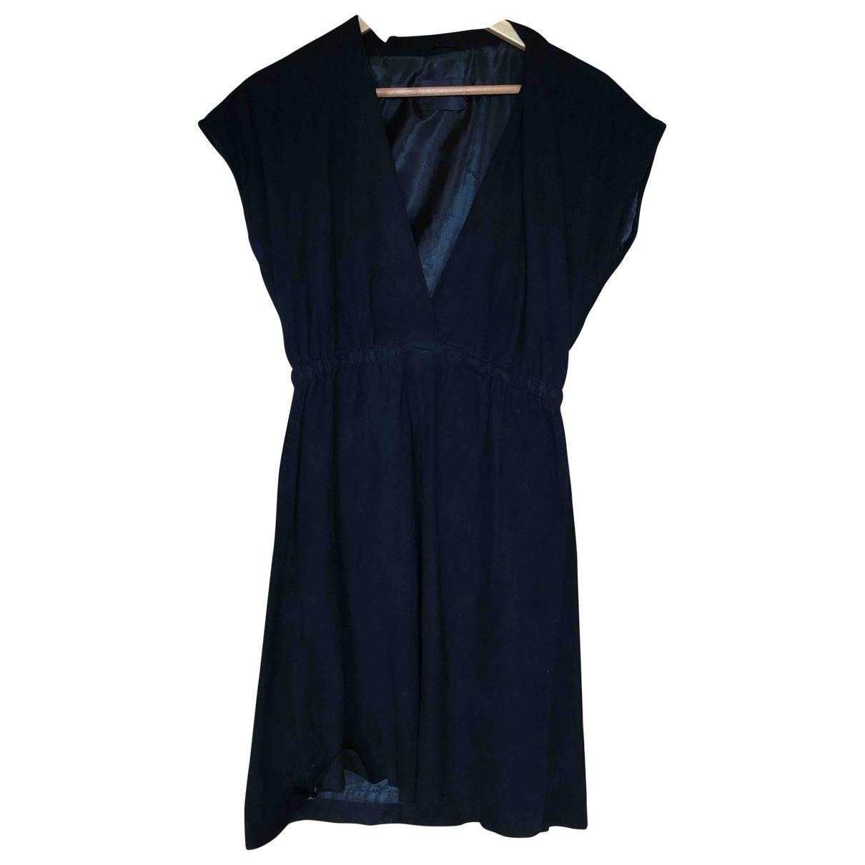 Ganni - Robe   pour femme en cuir - noir
