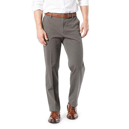 Dockers Men's Classic Fit Workday Khaki Smart 360 Flex Flat Front Pant D3, 44 30, Gray