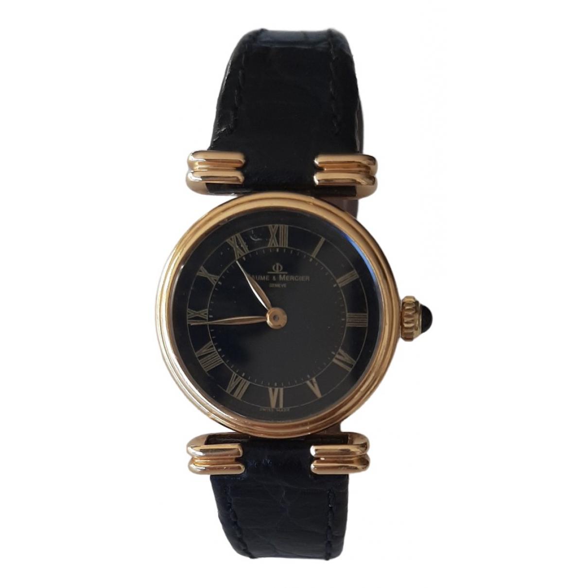 Baume Et Mercier \N Uhr in  Schwarz Gelbgold