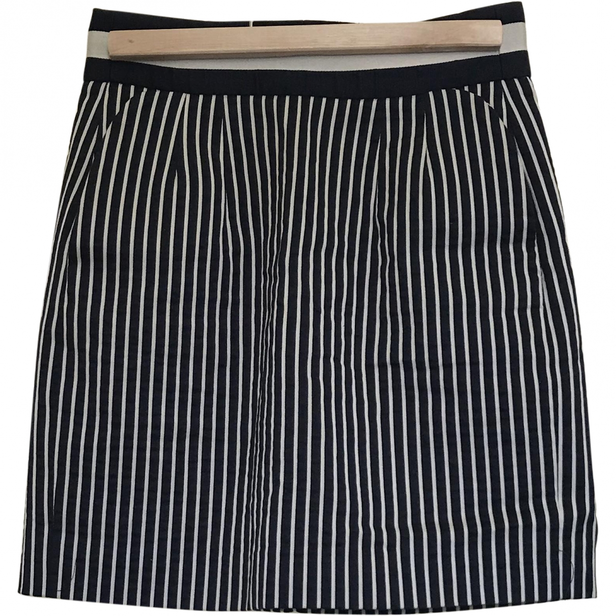 Emporio Armani \N Blue Cotton skirt for Women 38 IT
