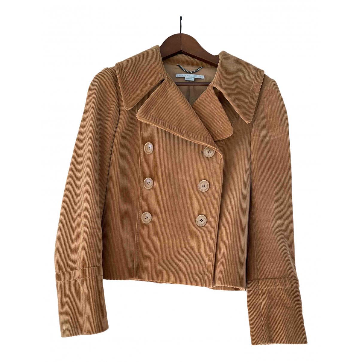 Stella Mccartney N Camel Velvet jacket for Women 38 FR