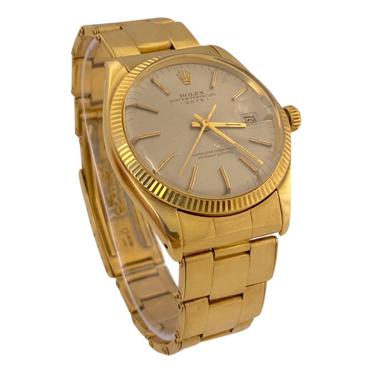Rolex - Montre Oyster Perpetual 34mm pour homme en or jaune - jaune