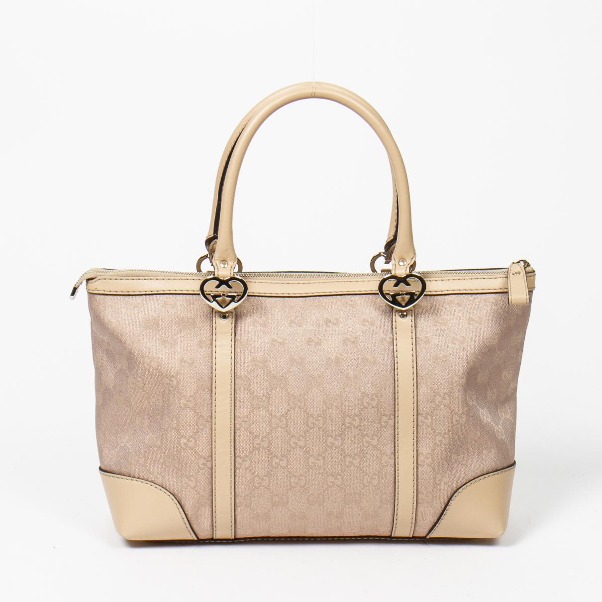 Gucci \N Handtasche in  Rosa Leinen