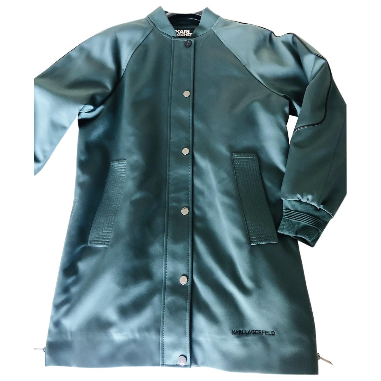 Karl Lagerfeld \N Lederjacke in  Gruen Polyester
