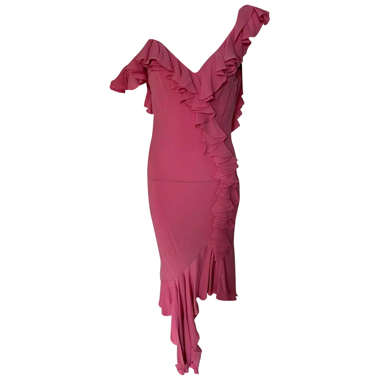 John Galliano \N Pink Silk dress for Women 38 FR