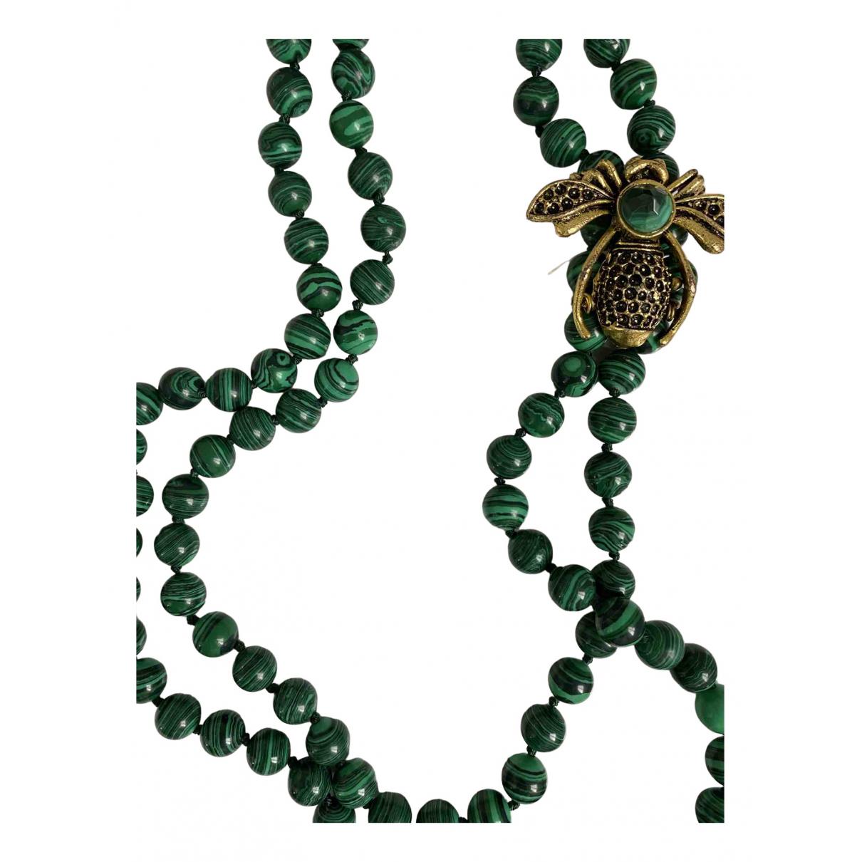 - Collier Agate pour femme en perles - vert