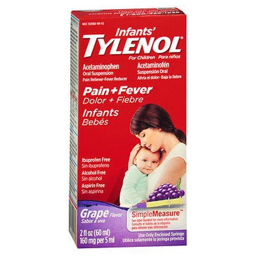 Tylenol Infants Pain + Fever Oral Suspension Grape Flavor 2 Oz by Tylenol