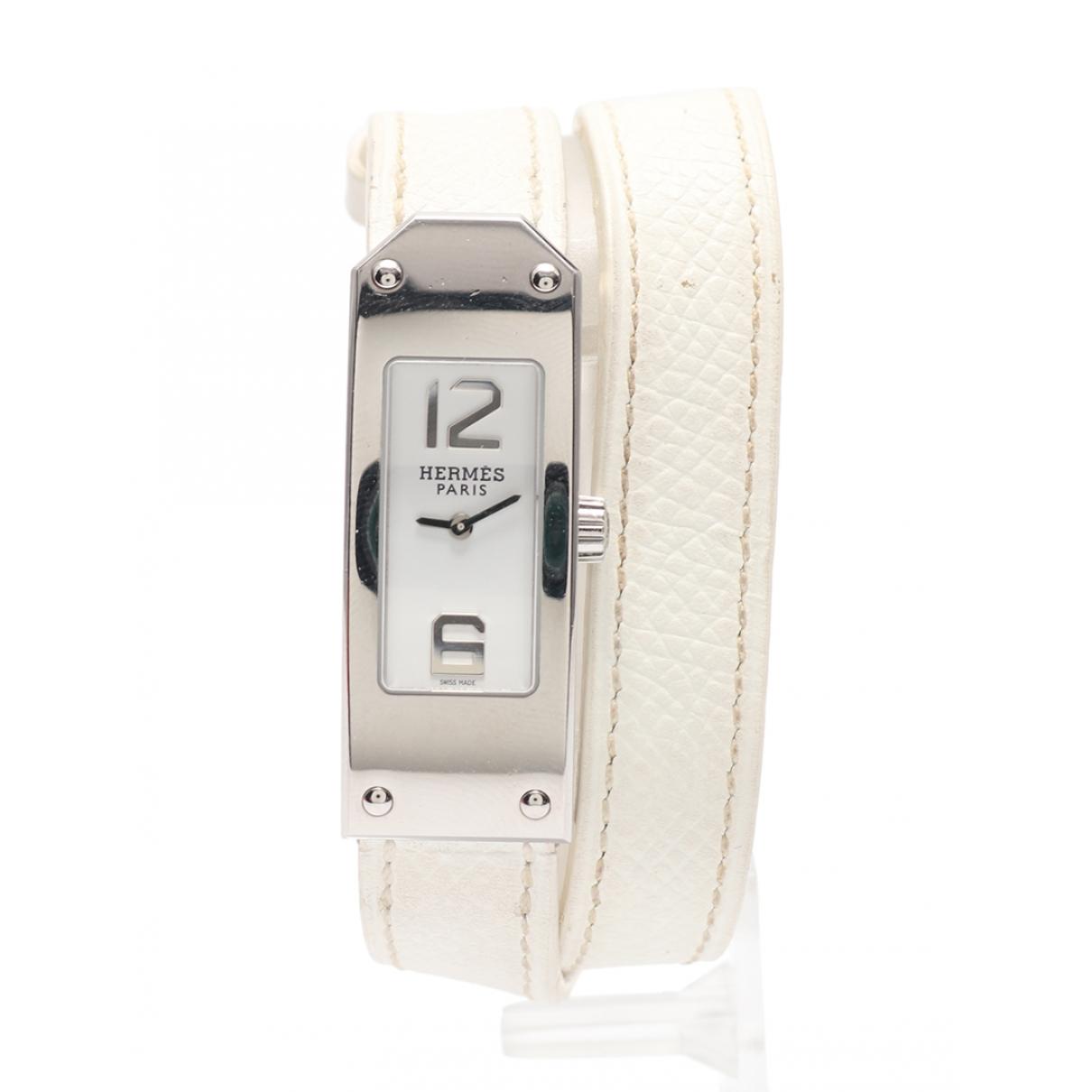 Hermès Kelly II Silver Steel watch for Women \N