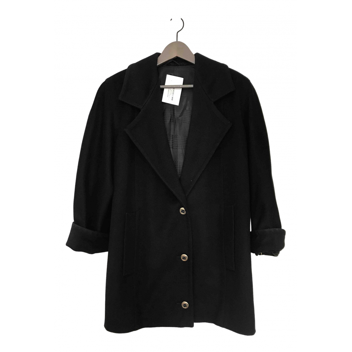 Max Mara N Black Wool coat for Women 38 IT