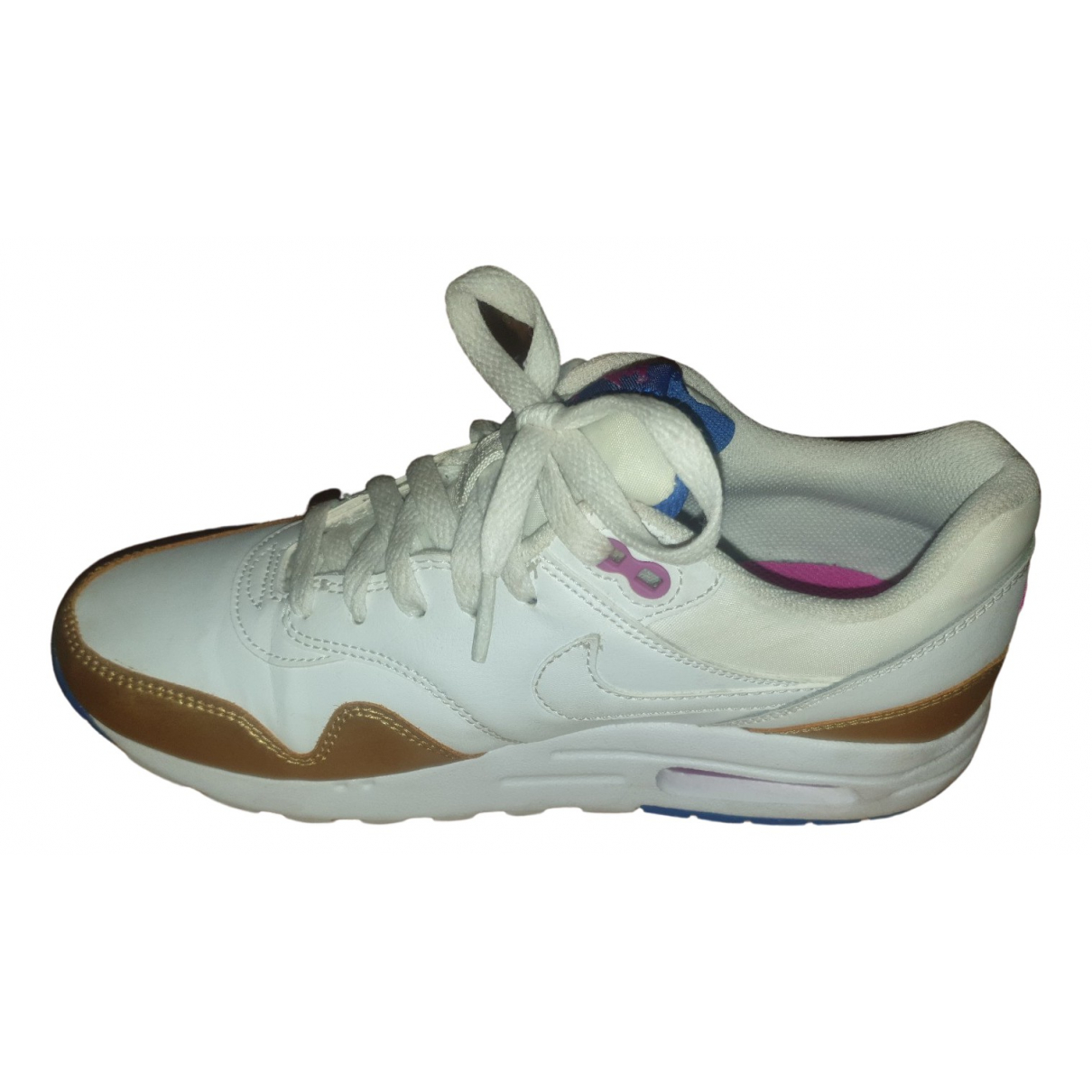 Nike Air Max  White Leather Trainers for Women 38.5 EU