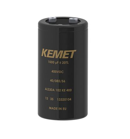 KEMET 91000μF Electrolytic Capacitor 63V dc, Screw Mount - ALS70A913MF063