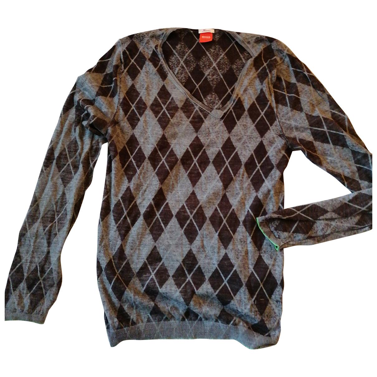 Boss Orange - Pulls.Gilets.Sweats   pour homme en laine - anthracite