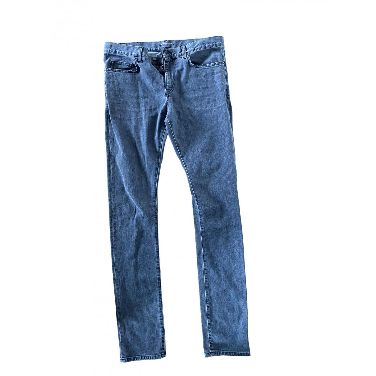 Saint Laurent \N Grey Cotton Jeans for Men 32 US