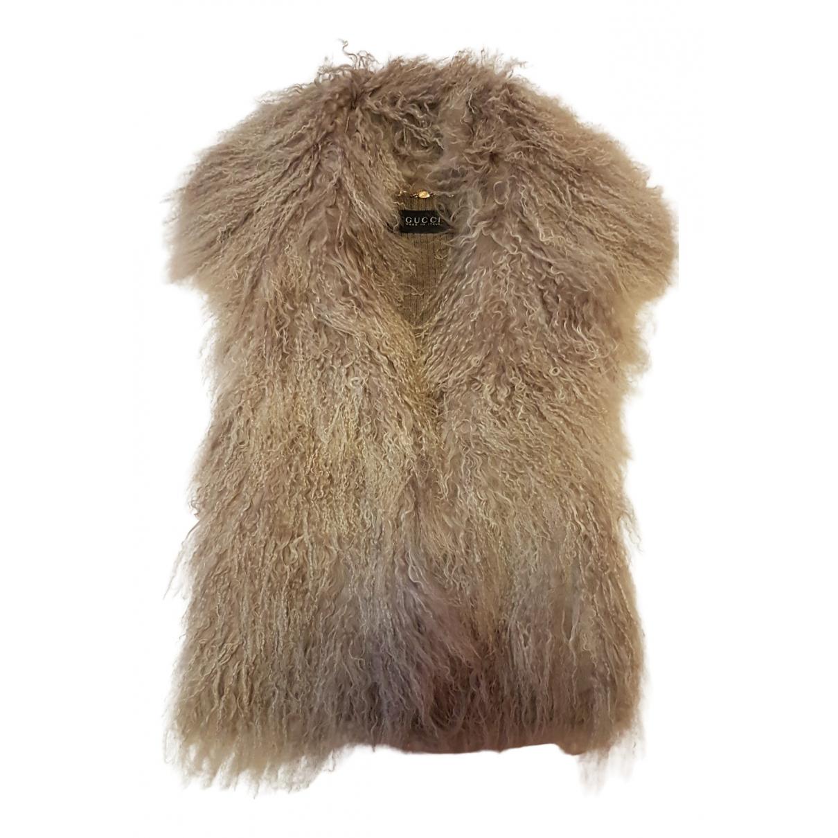 Gucci \N Pullover in  Beige Schaf