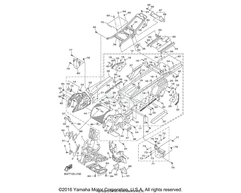 Yamaha OEM 90480-40003-00 GROMMET