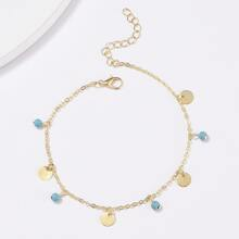 Disc Decor Chain Anklet