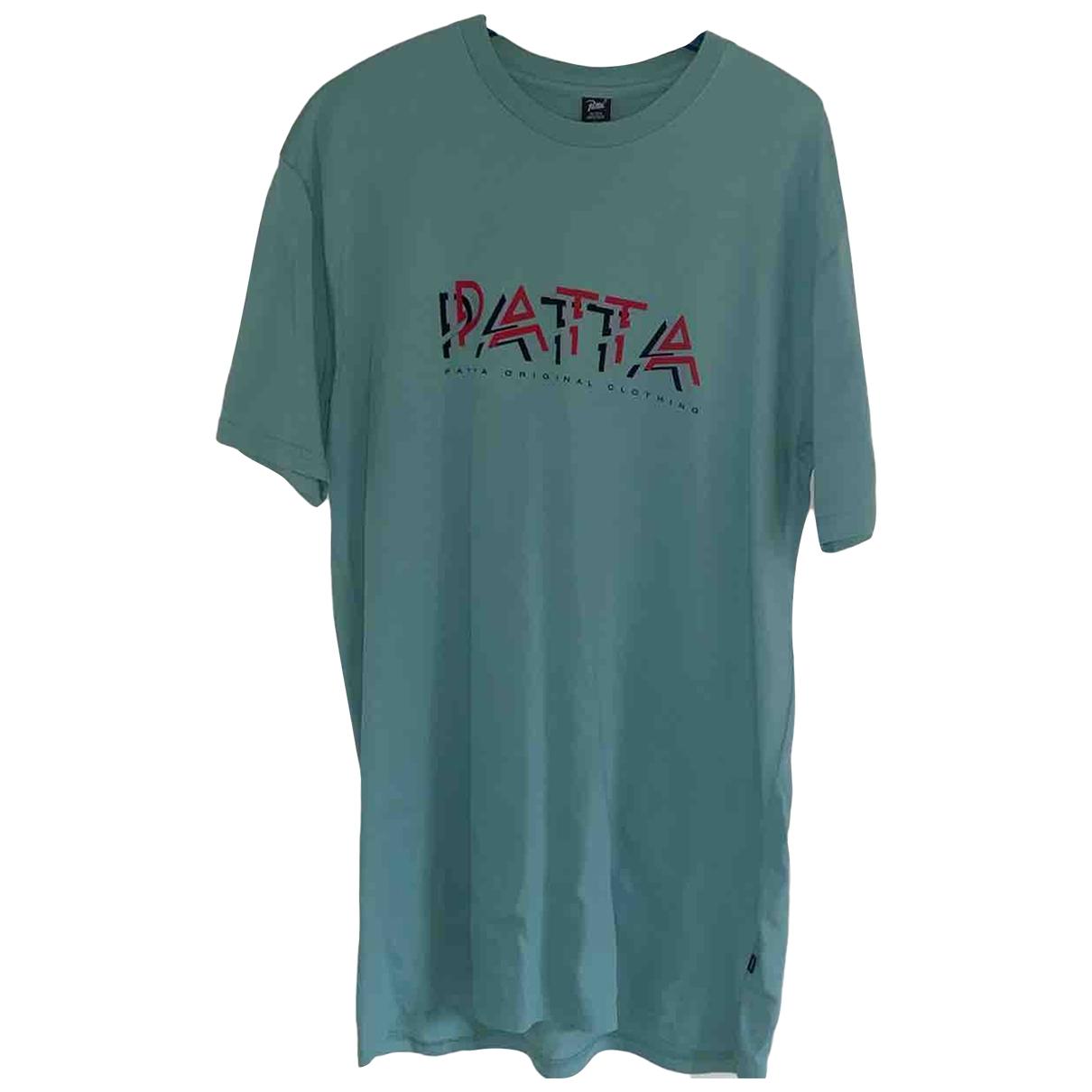 Patta \N T-Shirts in  Tuerkis Baumwolle
