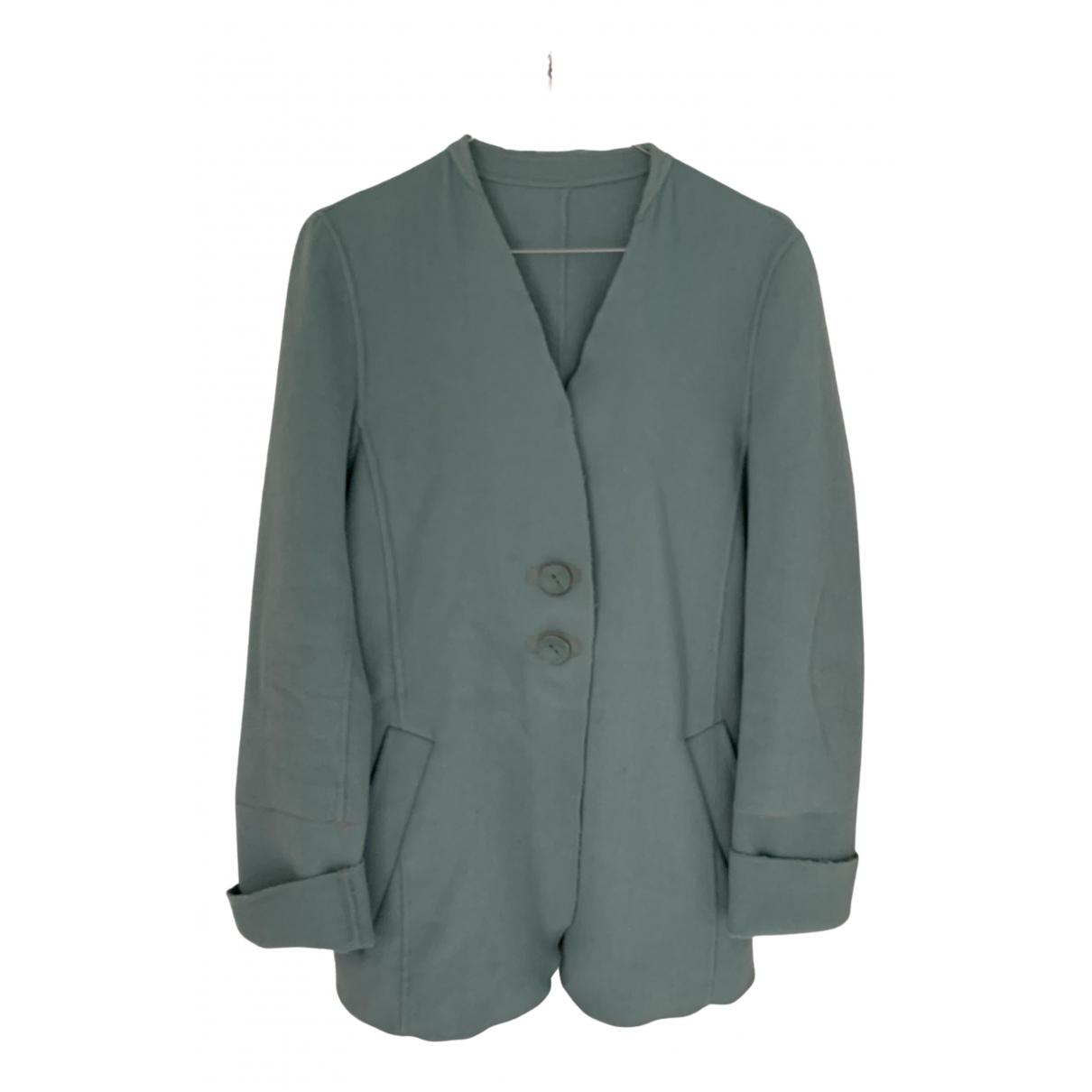 - Veste   pour femme en laine - turquoise