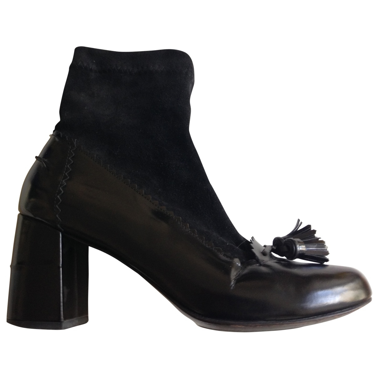 Robert Clergerie \N Black Leather Ankle boots for Women 5.5 UK