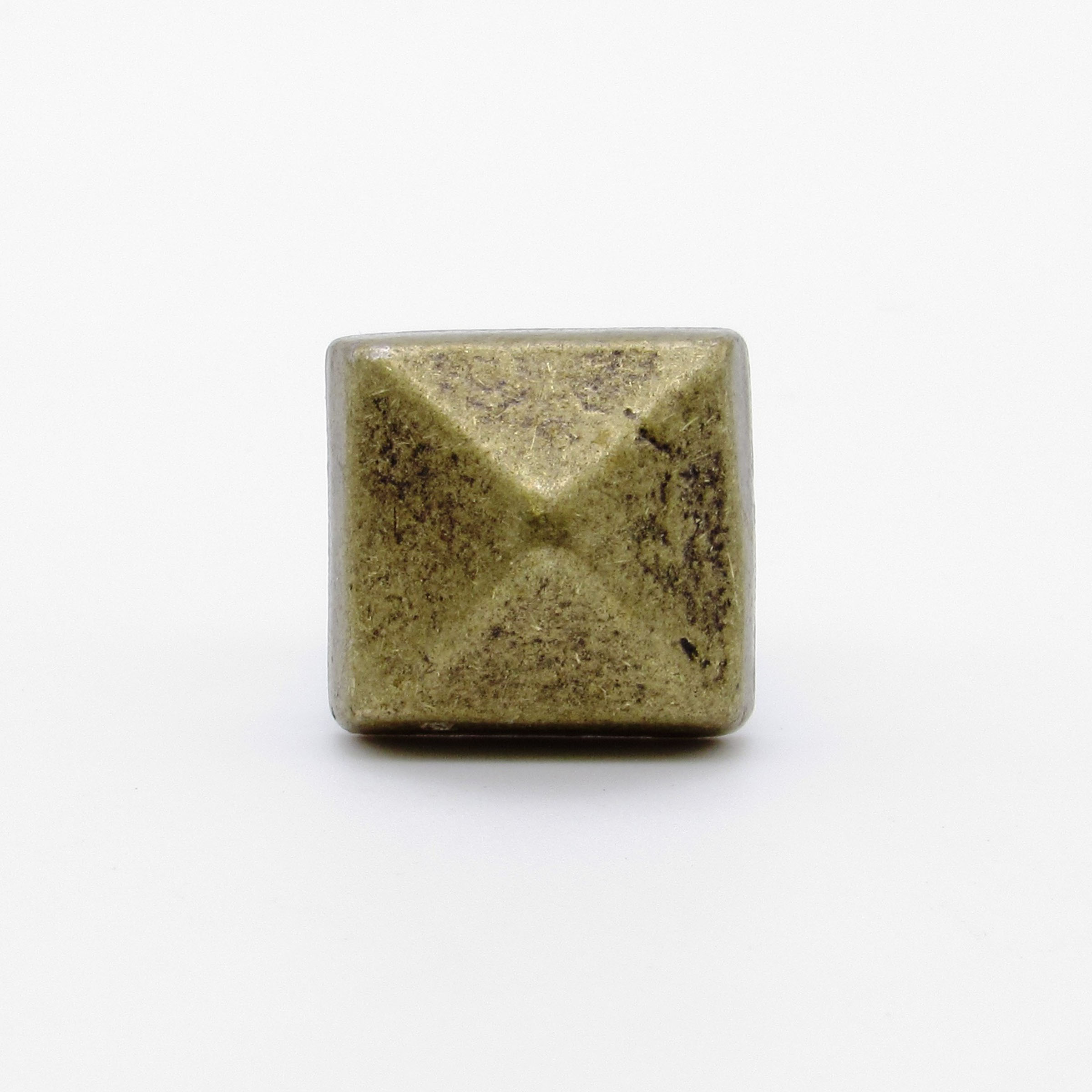 """Square 5/8"""" Clavo Decorative Nail, 8-Pack, Brass Oxide"""