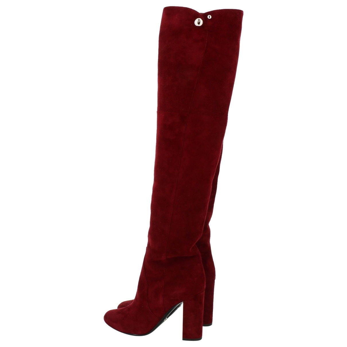 Dior \N Burgundy Suede Boots for Women 37 EU