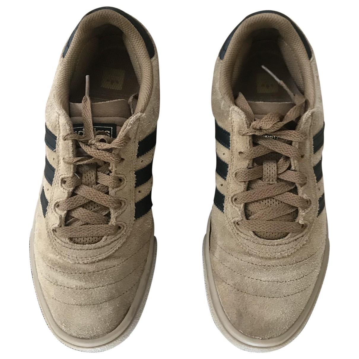 Adidas - Baskets   pour homme en suede - marron