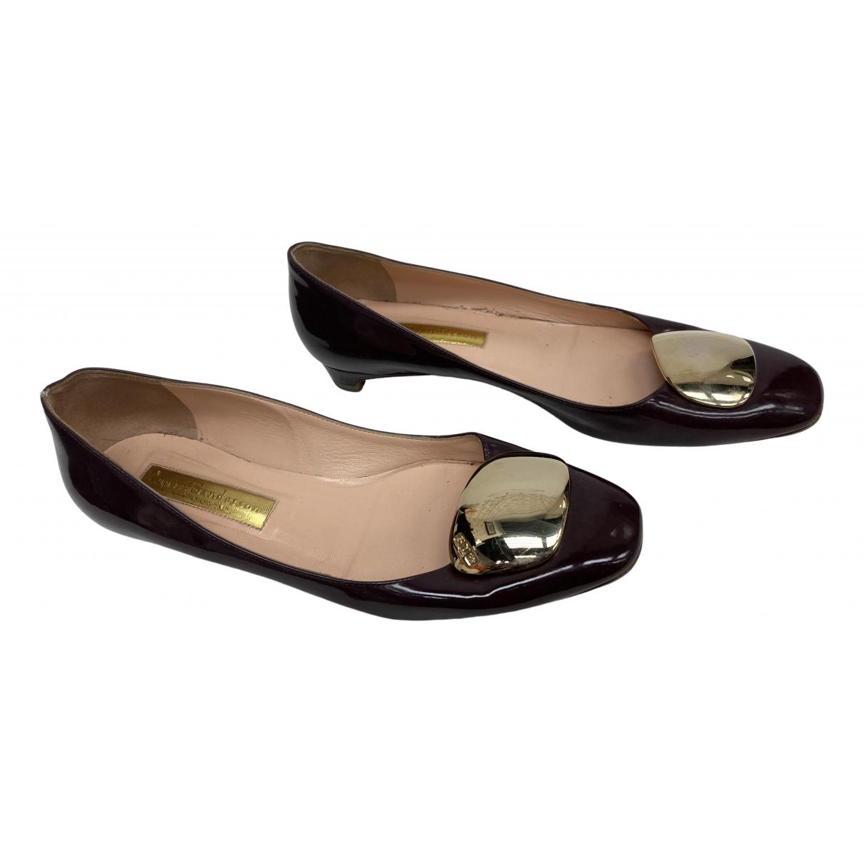 Rupert Sanderson \N Purple Patent leather Ballet flats for Women 38 EU