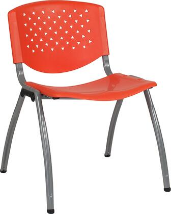 Hercules Collection RUT-F01A-OR-GG Multipurpose Stack Chair with Titanium Gray Powder Coated Frame  Perforated Back  Ergonomically Contoured Design