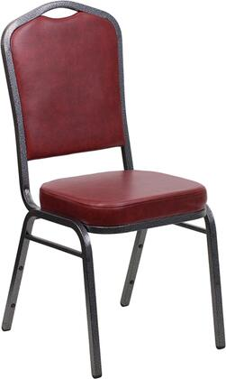 Hercules Collection FD-C01-SILVERVEIN-BURG-VY-GG Stacking Banquet Chair with 16 Gauge Steel Frame  Floor Protector Plastic Glides  Silver Vein Metal