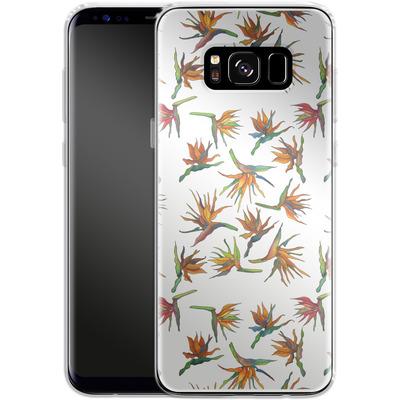 Samsung Galaxy S8 Silikon Handyhuelle - Paradise Flower Pattern von Kaitlyn Parker