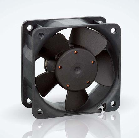ebm-papst , 24 V dc, DC Axial Fan, 60 x 60 x 25mm, 56m³/h, 3W, IP20