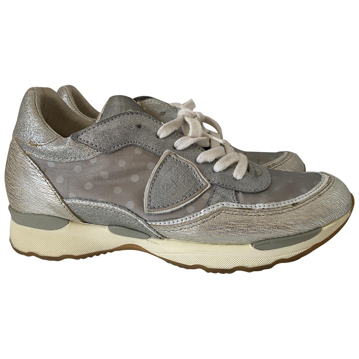 Philippe Model \N Sneakers in  Silber Leder